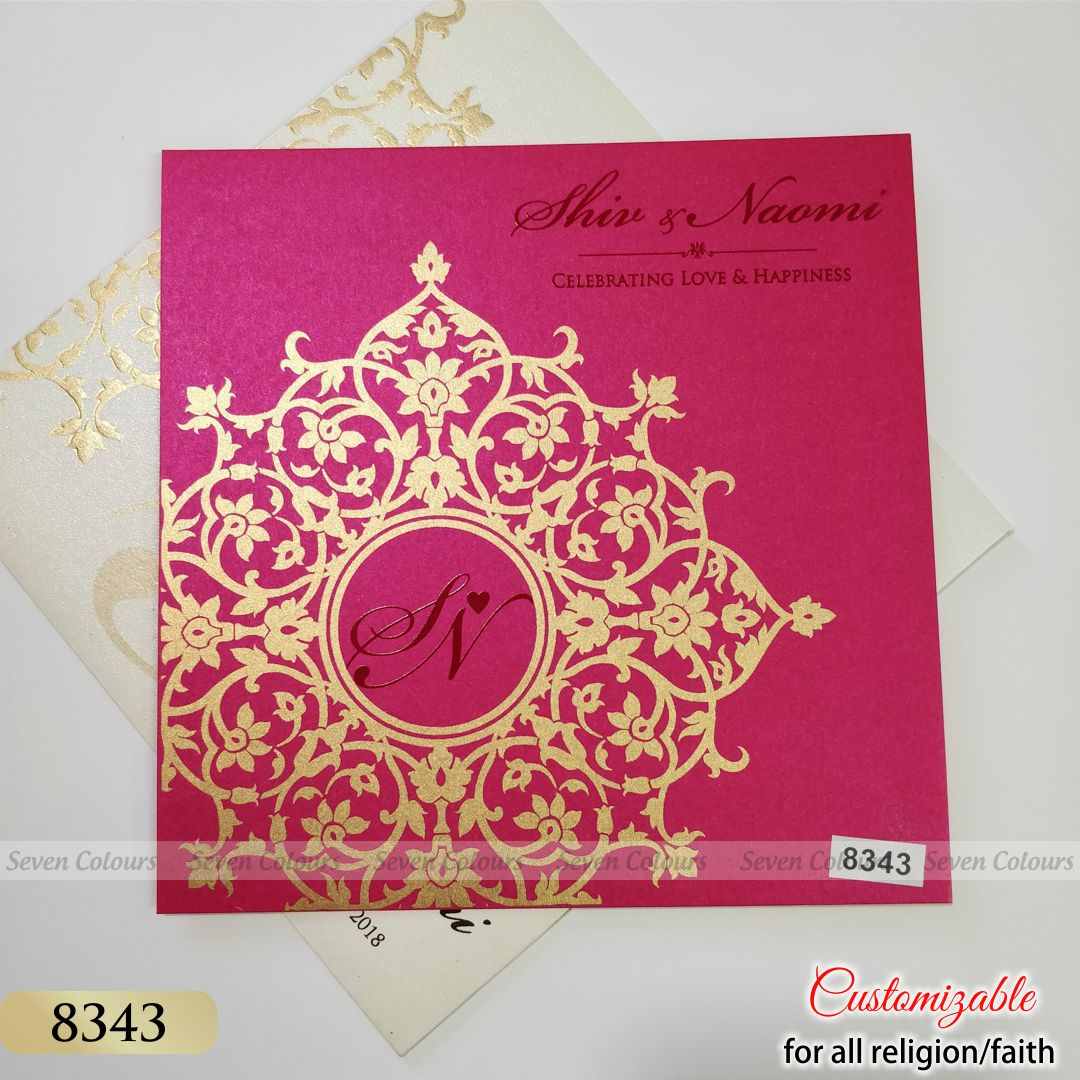 SC-08343-(350pcs) - Indian Wedding Cards by Seven Colours