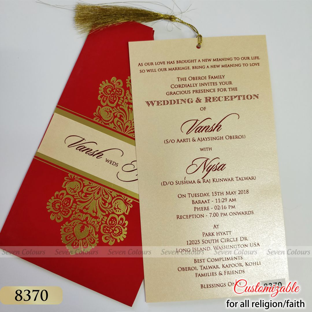 SC-8370 - Indian Wedding Cards by Seven Colours