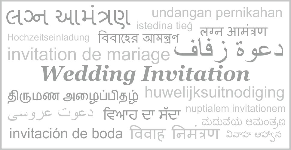 printing languages by indian wedding cards