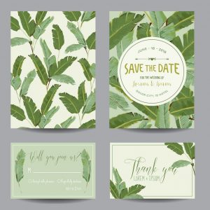 Banana Leaves Wedding Invitation Nature Lover