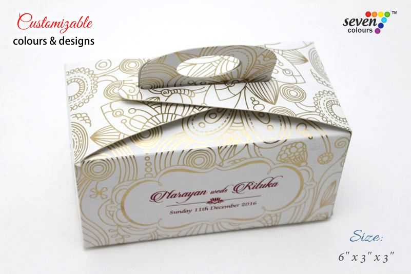 Gift Handle Favour Box Sheeba 2 Indian Wedding Cards