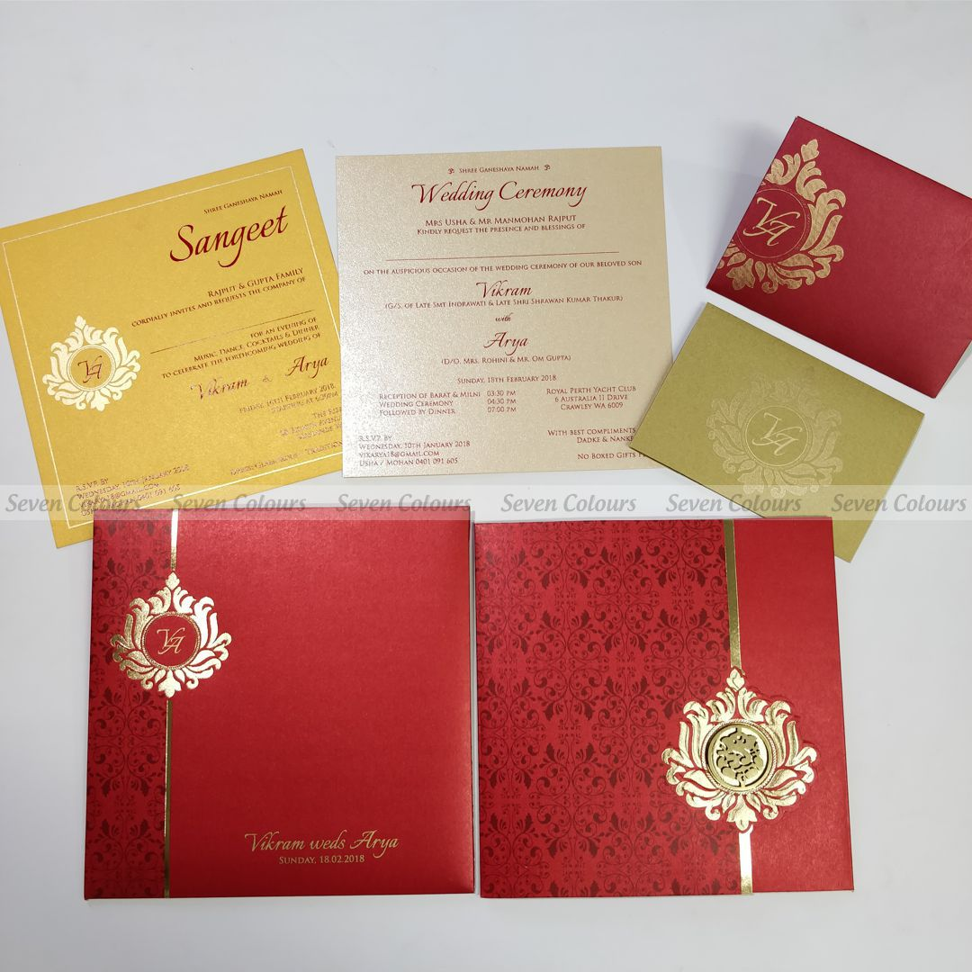SC-421 - Indian Wedding Cards by Seven Colours