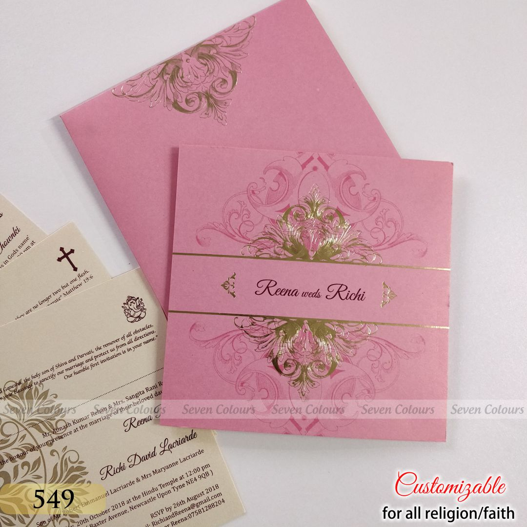 SC-0549-(300pcs) - Indian Wedding Cards by Seven Colours