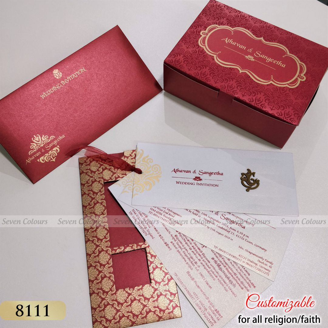 SC-8111 - Indian Wedding Cards by Seven Colours