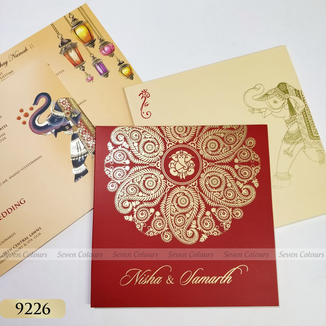 SC-09226 (50pcs) - Indian Wedding Cards by Seven Colours