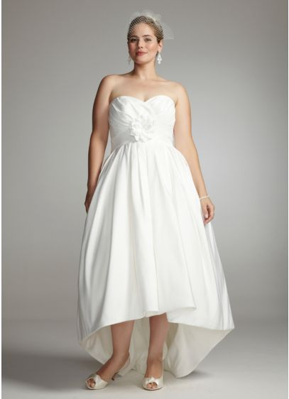 Strapless Faille Gown with Sweetheart Draped Bodice