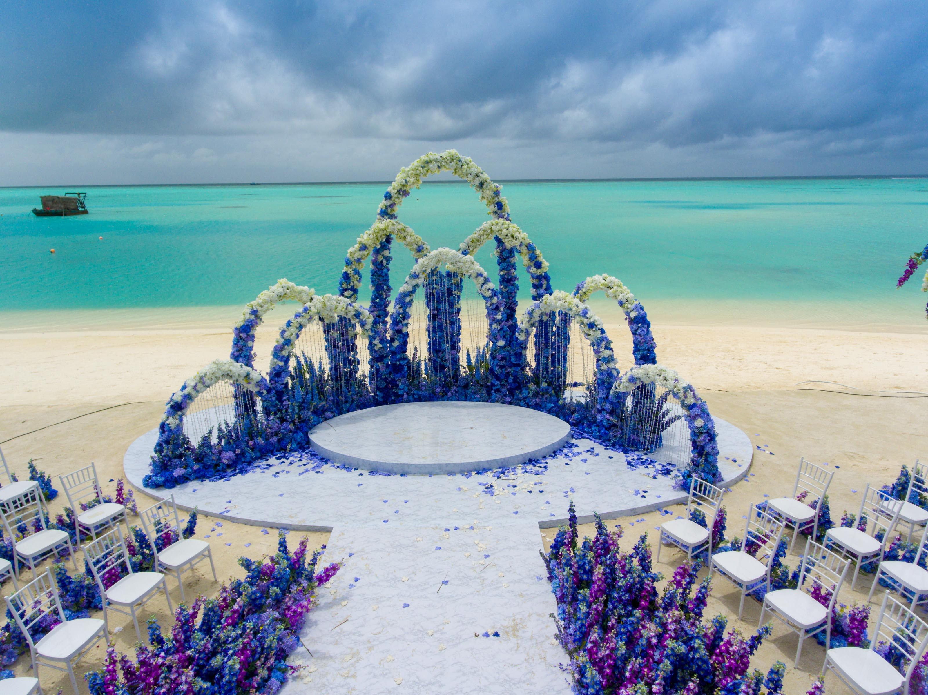 Beach Destination Wedding - Indian Wedding Cards